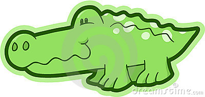 Safari Crocodile Vector