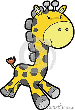 Safari Giraffe Vector