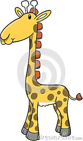 Safari Giraffe Vector Illustration