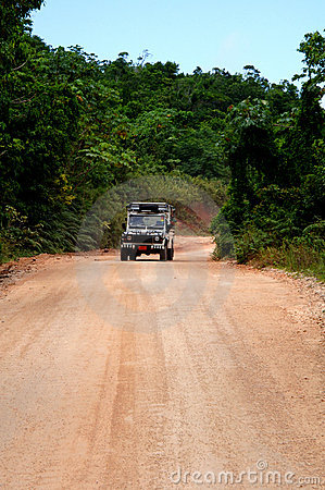 Free Safari Jeep On Dirt Road Royalty Free Stock Photos - 2719458