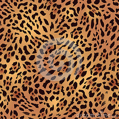 Free Safari Leopard Fur Seamless Vector Print Royalty Free Stock Image - 48711386