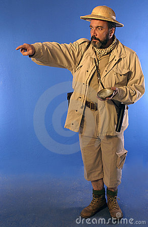 Free Safari Man 2 Royalty Free Stock Photo - 623155