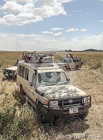 Safaris car with tourist