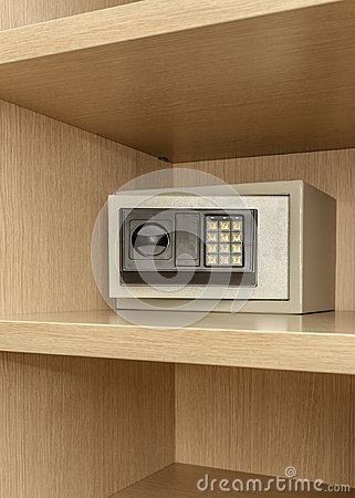 Free Safe Box For Storing Valuables In A Wooden Cupboard. Stock Images - 103275994