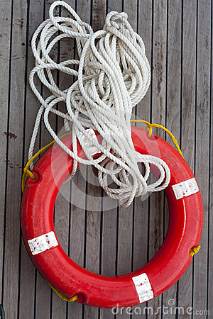 Safe circle with rope.