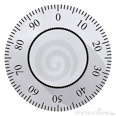 Free Safe Dial Royalty Free Stock Images - 4527179