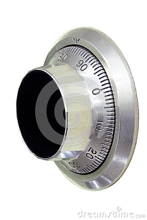 Safe dial lock close-up (include clipping paths)