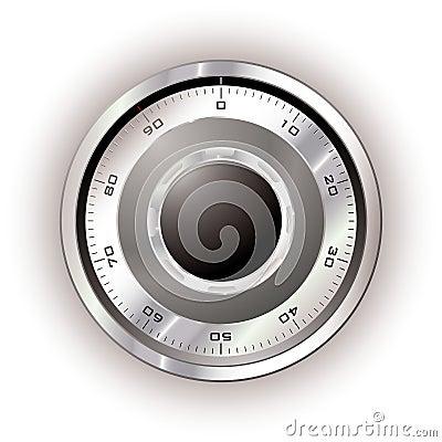 Safe dial white