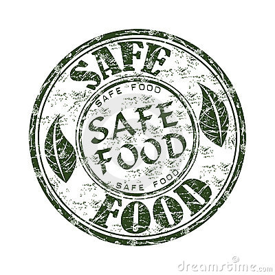 Safe food grunge rubber stamp
