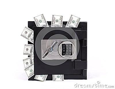 Safe full of  money