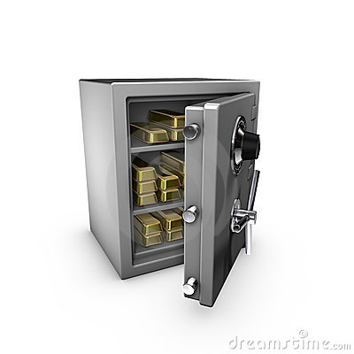 Safe with goldbars