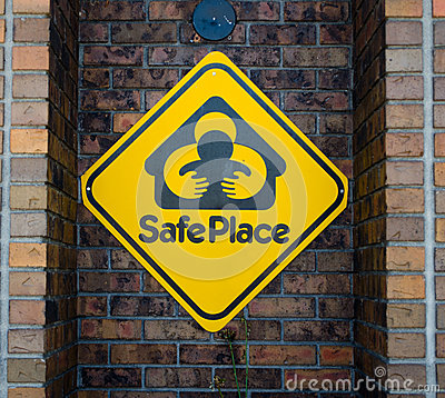 Safe haven sign Editorial Image