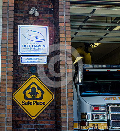 Safe haven sign and safe place Editorial Image