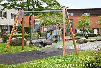 Safe playground in modern suburb