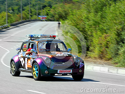 Safety Car on IRC PRIME Yalta Rally 2012 Editorial Photo