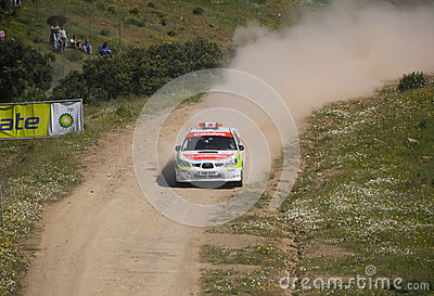Safety Car in Rally de Portugal 2013 Editorial Stock Photo