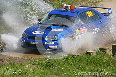 Safety Car in Rally de Portugal 2013 Editorial Photo