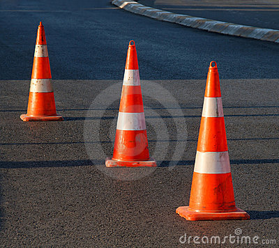 Free Safety Cones Stock Photos - 17406063