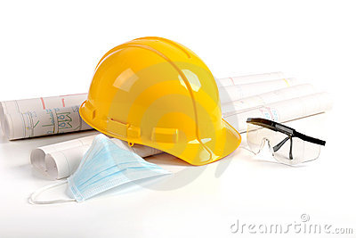 Safety in Construction Concept