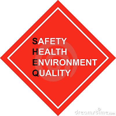 Safety First - SHE&Q sign - vector