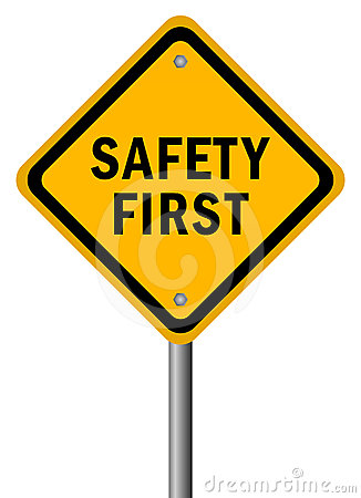 Free Safety First Sign Stock Images - 24407384