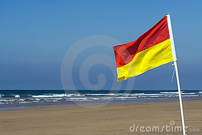 Safety Flag on a Beach