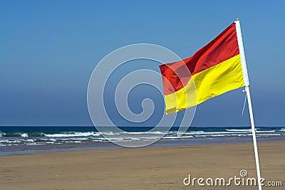 Safety Flag on a Beach