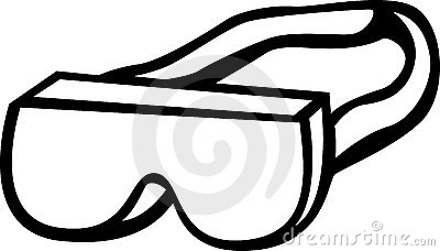 safety goggles with strap vector illustration