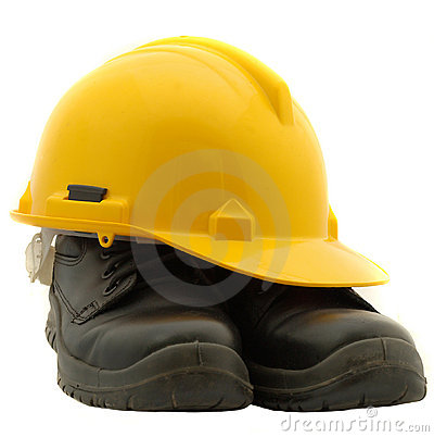 Free Safety Helmet And Safety Shoes Stock Photos - 9955133