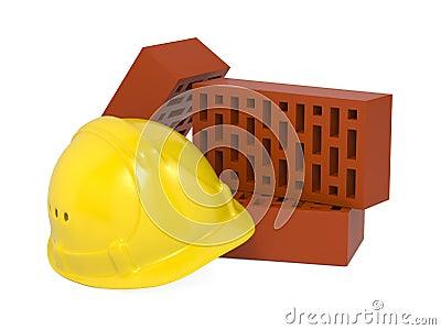 Safety Helmet and Bricks.