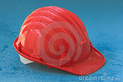 Safety helmet with drops