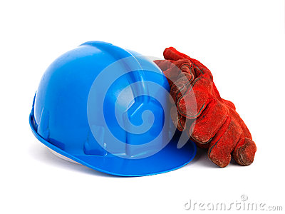 Safety helmet and gloves