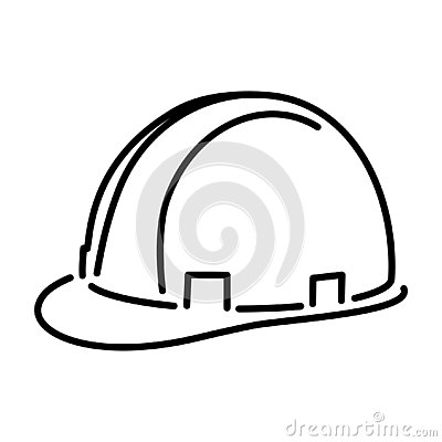 Safety Helmet Outline - msidiqf Vector Illustration