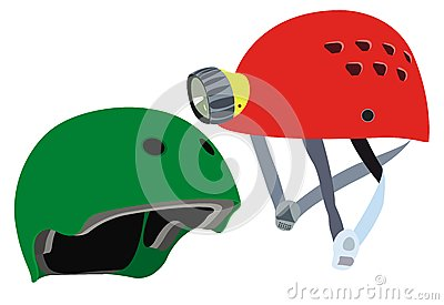 Safety helmets vector