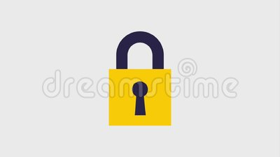 Safety lock icons stock footage