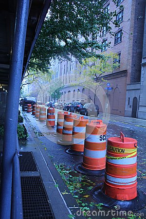 Safety Measures in NYC prepping for Hurricane Editorial Stock Image