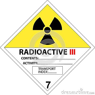 Safety placard - warning sign radioactive