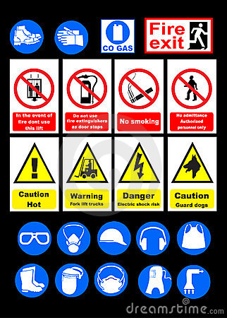 Free Safety Signs Royalty Free Stock Photography - 10176527