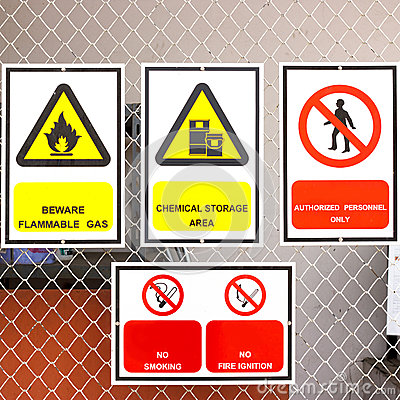 safety signs board in factory