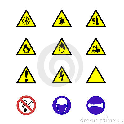 Safety signs and notices