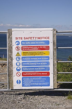 Safety site notice