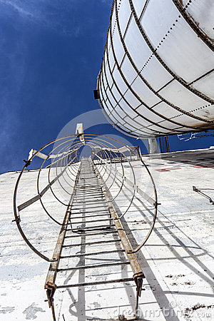 Free Safety Stairs On An Old Silo Stock Photography - 29039872