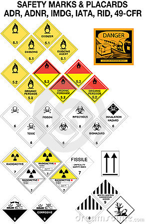 Safety warning signs collection - vector
