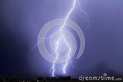 Safford Peak Forked Lightning