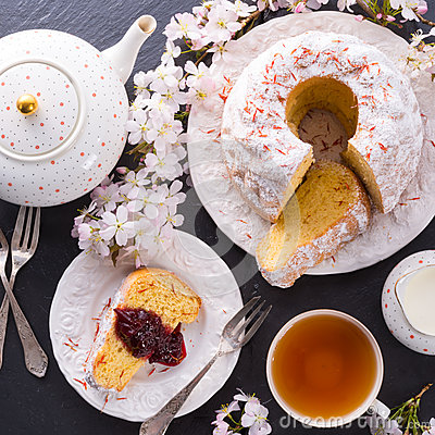 Saffron Easter Babka Stock Photo - Image: 39755746