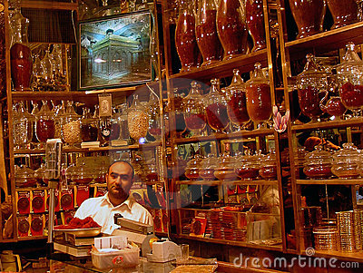 Saffron shop, Mashad Editorial Stock Image