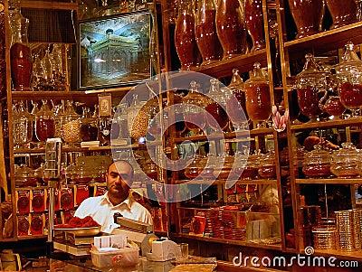 Saffron shop, Mashad Editorial Stock Image