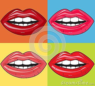 Saftige Lippen