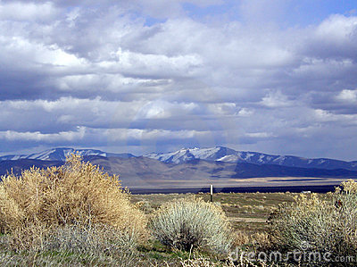 Sage, Mountains and Clouds