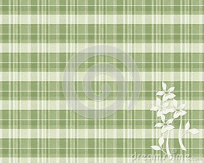Sage Plaid Flowers